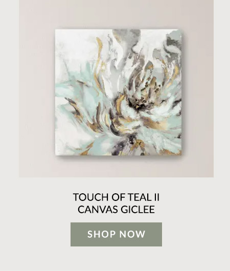 Touch of Teal II Canvas Giclee
