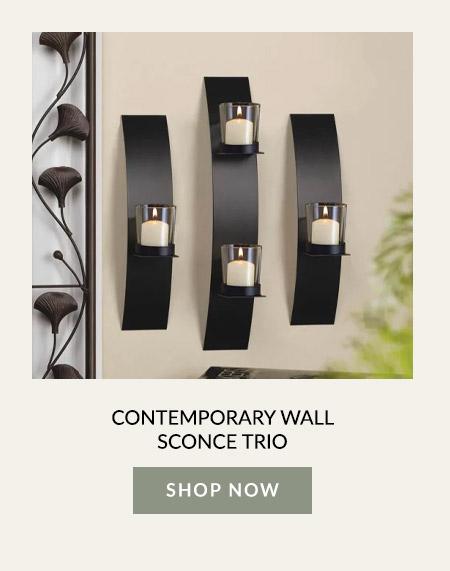 Contemporary Wall Sconce Trio