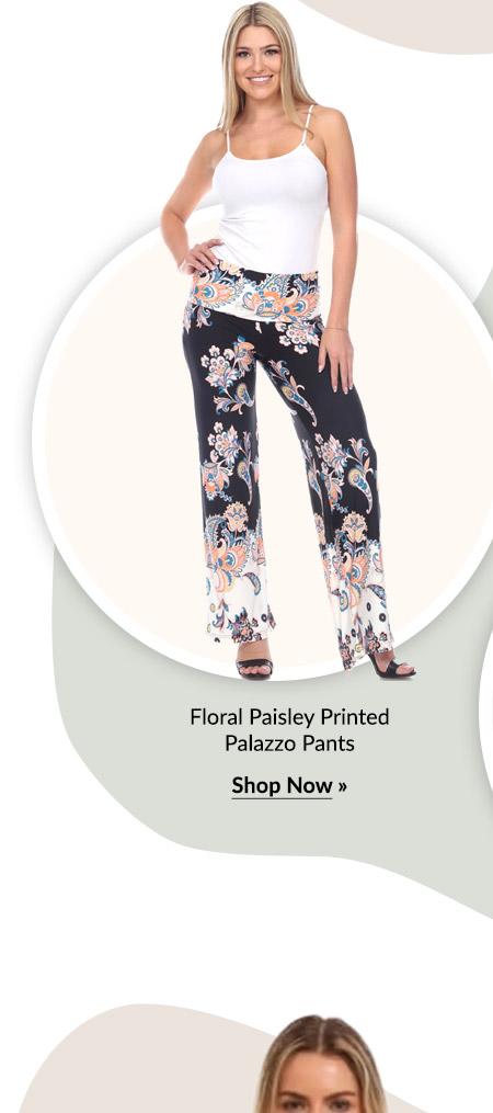 Floral Paisley Printed Palazzo Pants