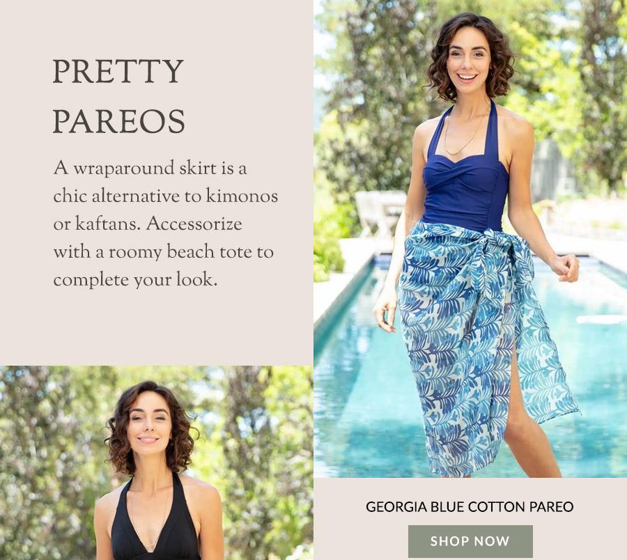 Georgia Blue Cotton Pareo