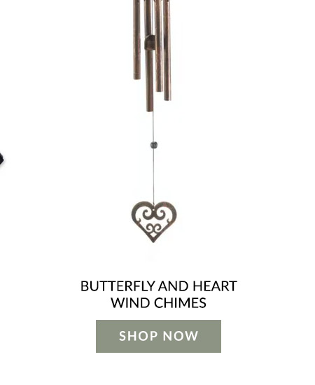 Butterfly And Heart Wind Chimes