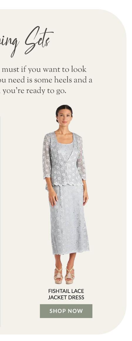 Fishtail Lace Jacket Dress