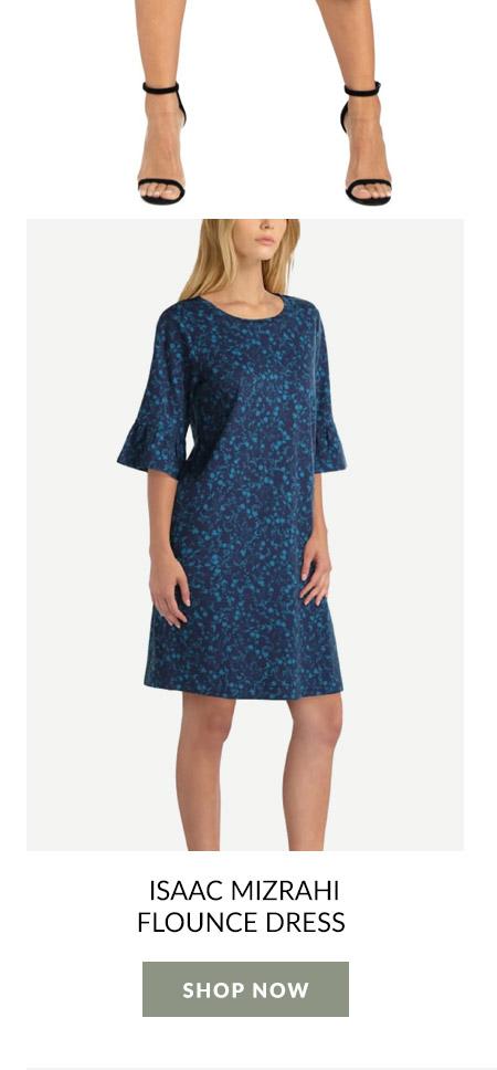 Isaac Mizrahi Flounce Dress