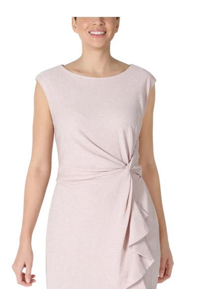 Studio One Blush/Silver Glitter Knit Sheath Dress