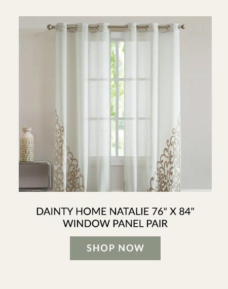 "Dainty Home Natalie 76"" X 84"" Window Panel Pair"