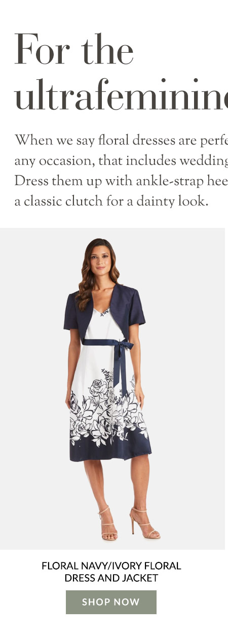 Floral Navy/Ivory Floral Dress and Jacket