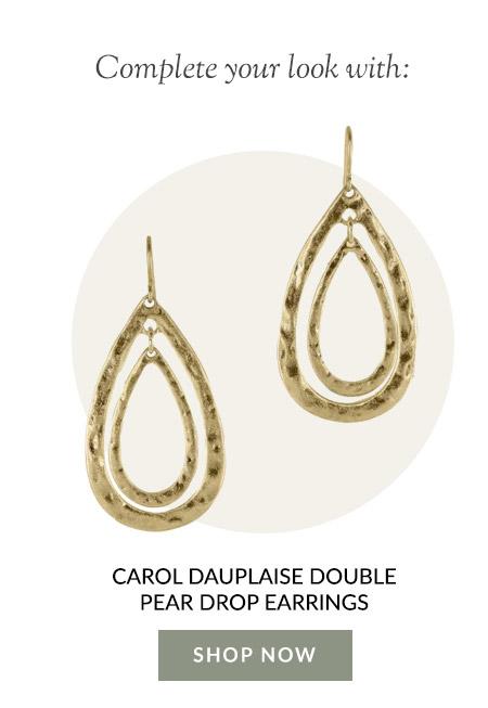 Carol Dauplaise Double Pear Drop Earrings