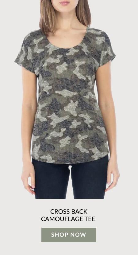 Cross Back Camouflage Tee