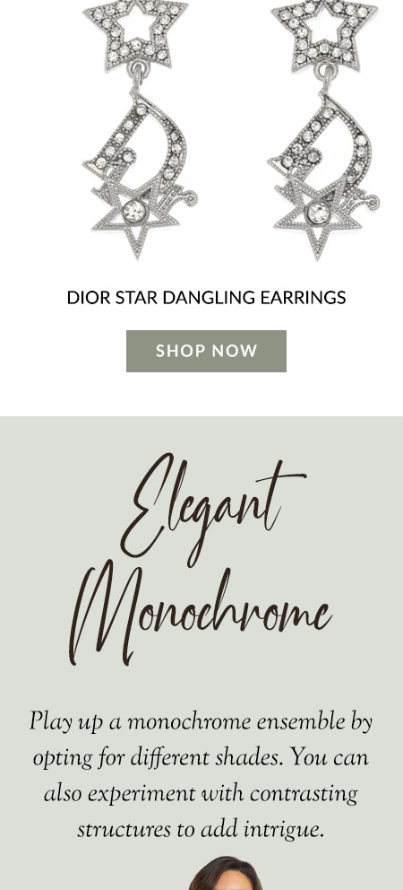 Dior Star Dangling Earrings