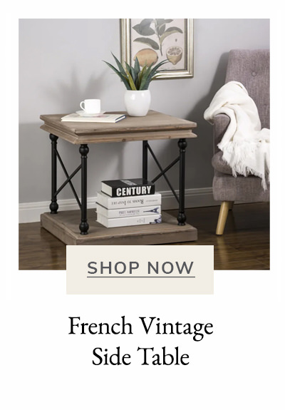 French Vintage-style Side Table | SHOP NOW