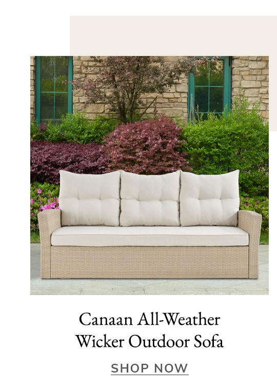 Canaan All-Weather Wicker Outdoor Sofa with Cushions | SHOP NOW