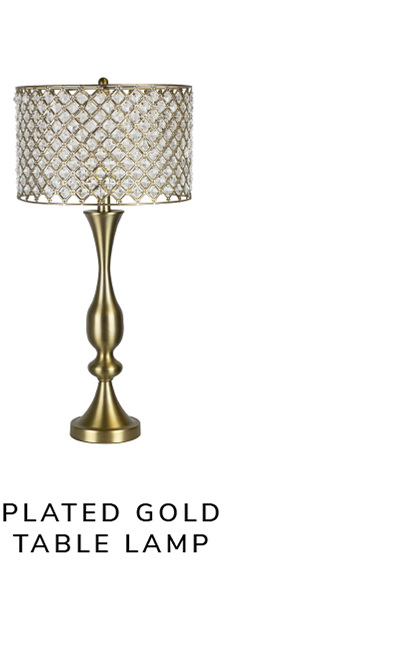 Plated Gold Table Lamp   SHOP NOW