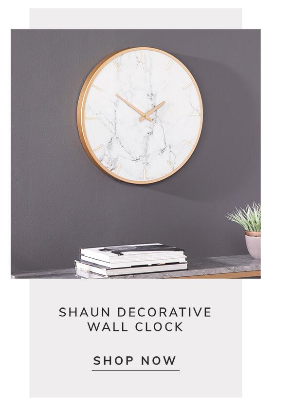 Shaun decorative wall clock   SHOP NOW
