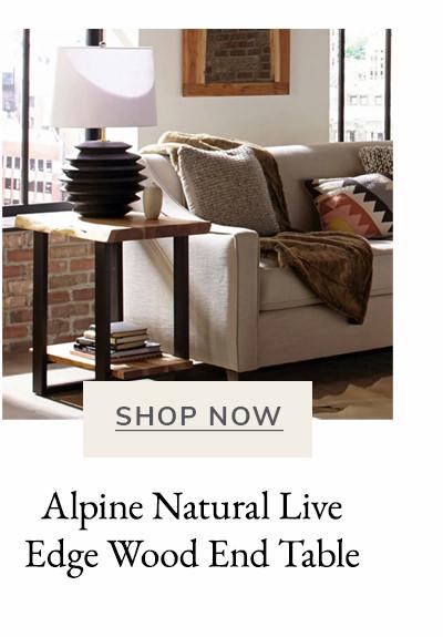 Alpine Natural Live Edge Wood End Table | SHOP NOW