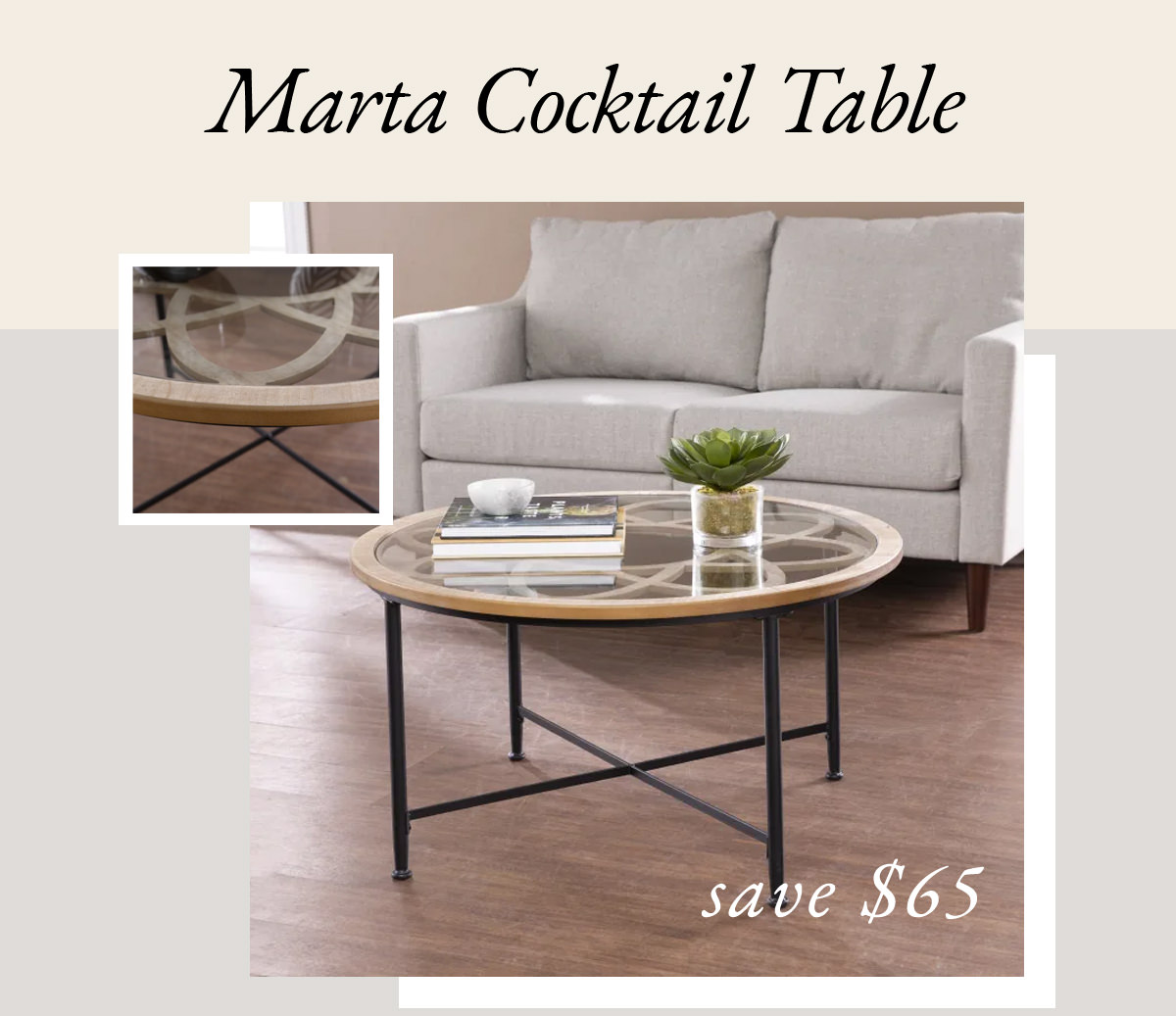 Marta Cocktail Table | SHOP NOW