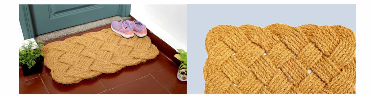 Natural Handcrafted Handknotted Coir Doormat | SHOP NOW