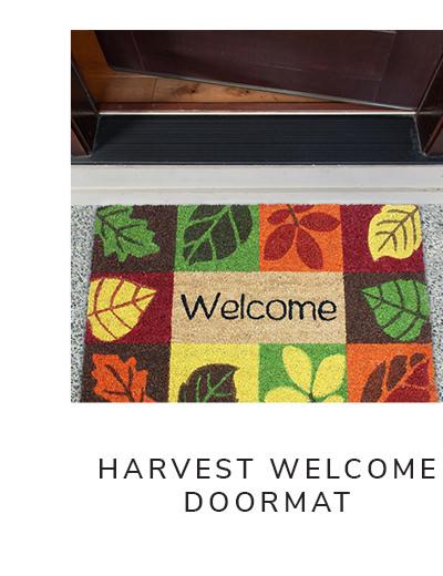 Harvest Welcome Leaves Icon Vinyl Back Doormat 18x30 | SHOP NOW