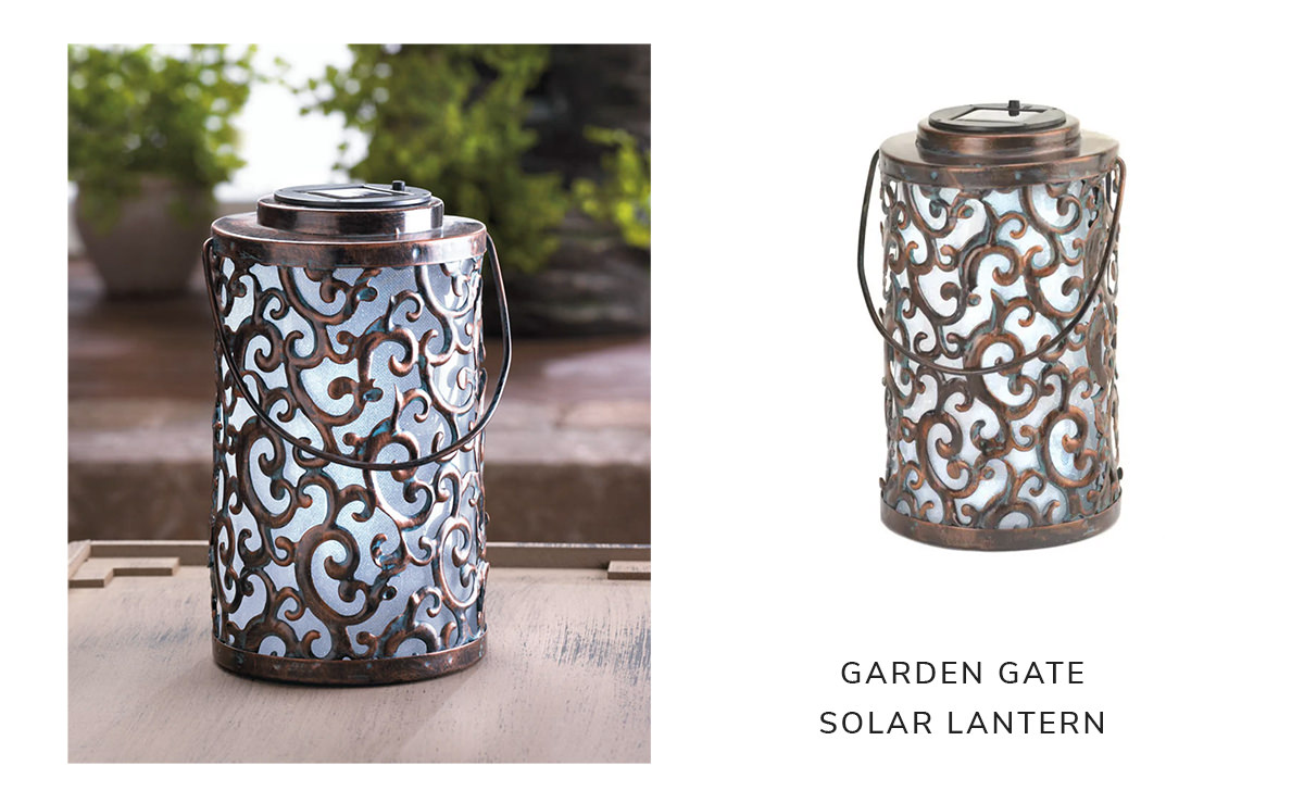Garden Gate Solar Lantern | SHOP NOW