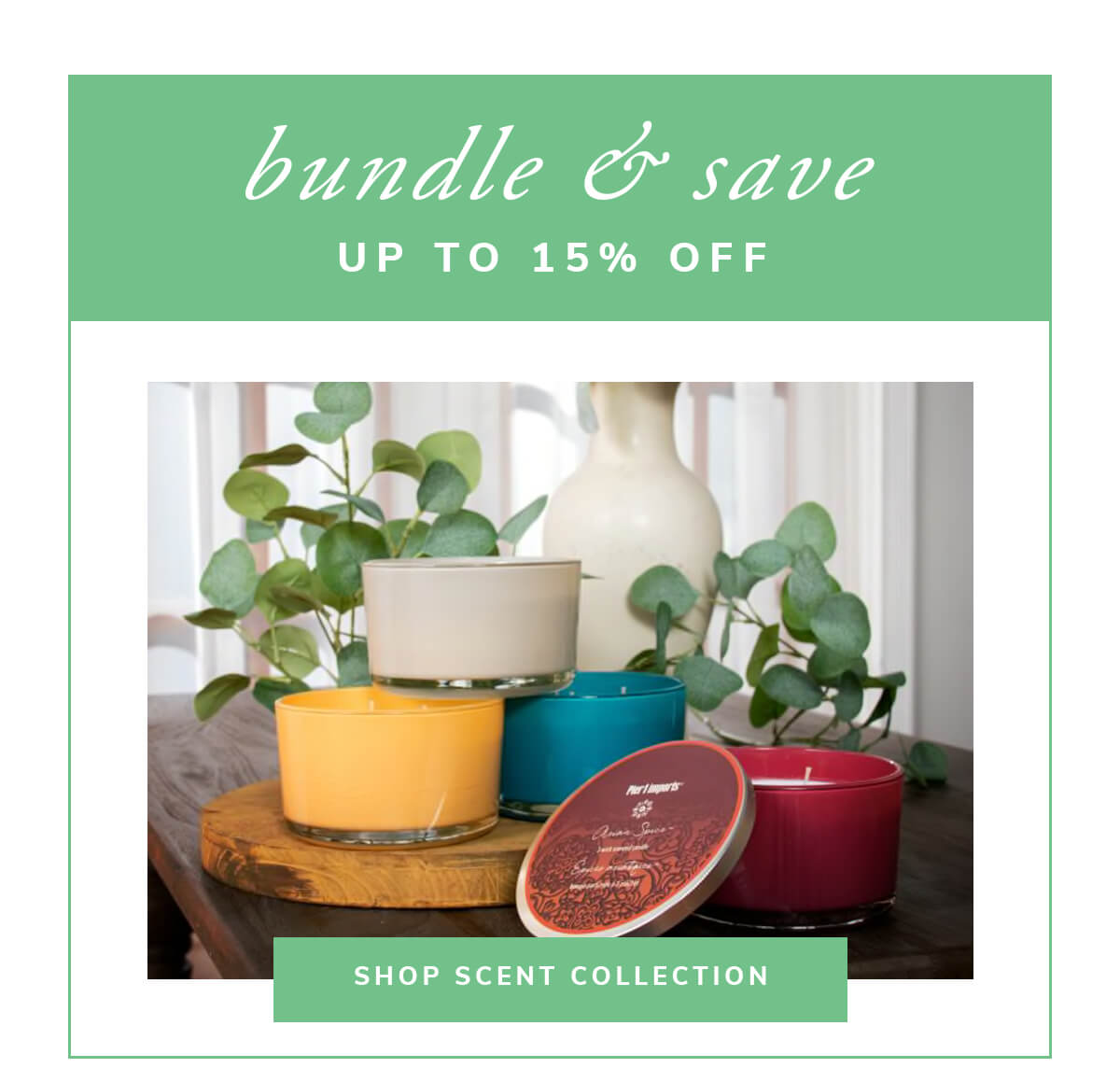 Bundle and save up to 15% off. | SHOP SCENT COLLECTION