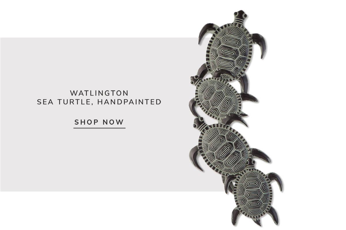 Watlington sea turtle, hand painted   SHOP NOW