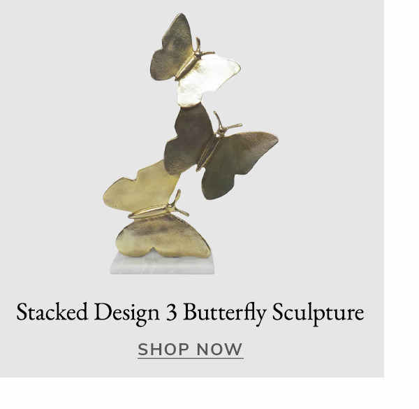 Stacked Design 3 Butterfly Sculpture | SHOP NOW