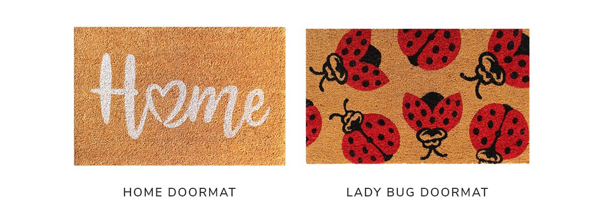 Natural Machine Tufted Home, 2x3, and Natural Machine Tufted Lady Bug, 1'5' x 2'5 | SHOP NOW