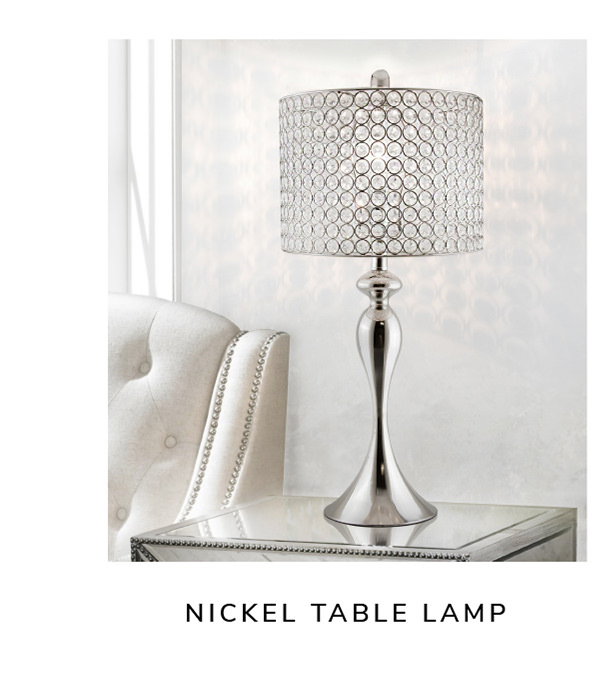 Polished Nickel Table Lamp   SHOP NOW