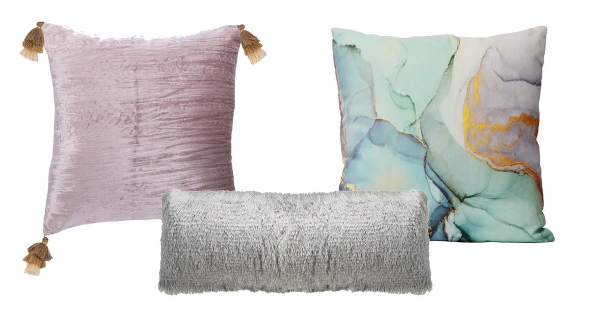 Gwena Pillow, Cali Shag Pillow, Marble Square Pillow.   SHOP NOW