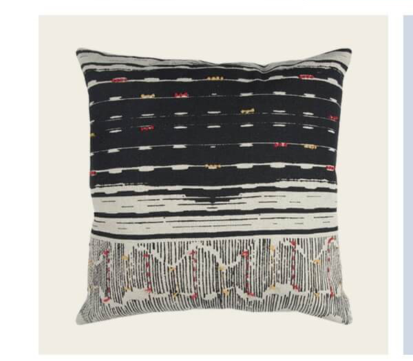 Boho Striped Black Pillow Cover | SHOP NOW