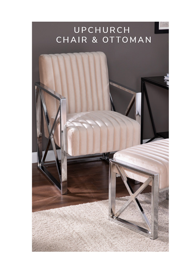 Shawn Velveteen Accent Chair and Ottoman – 2pc Set   SHOP NOW