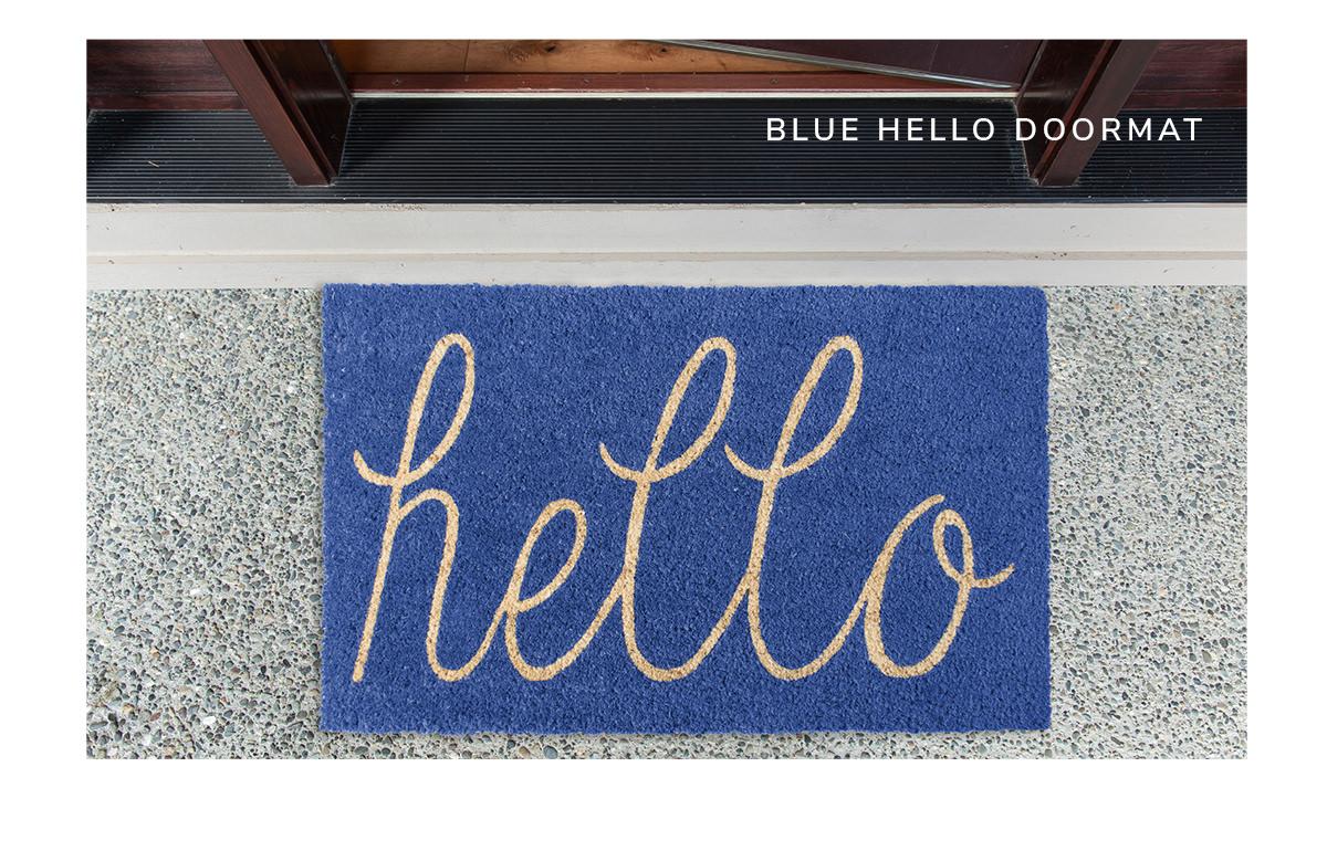 Blue Hello Doormat | SHOP NOW
