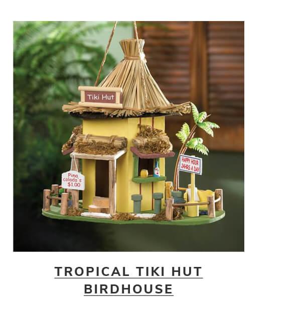Tropical Tiki Hut Birdhouse | SHOP NOW