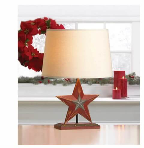 Farmhouse Red Star Table Lamp | SHOP NOW