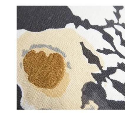 Floral Burlap Black/White Pillow Cover | SHOP NOW