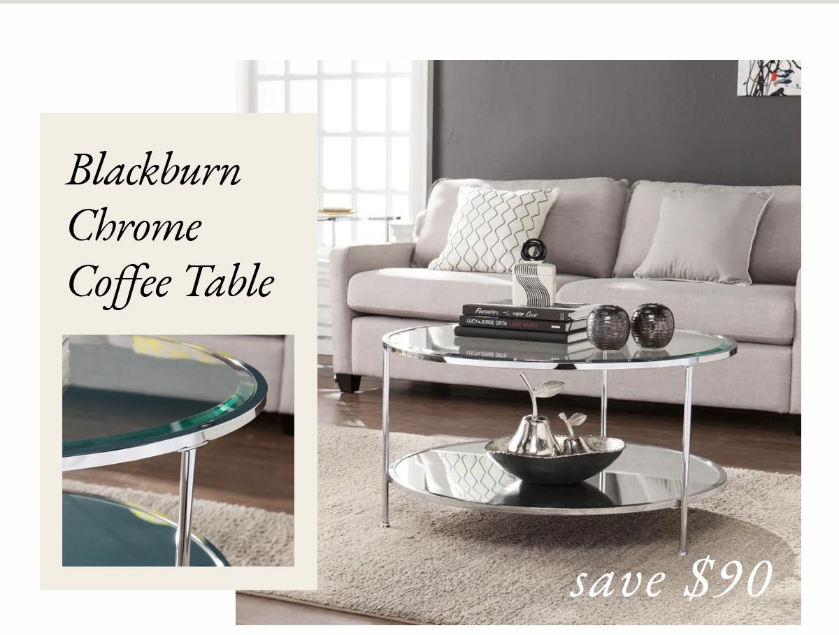 Blackburn Chrome Coffee Table | SHOP NOW