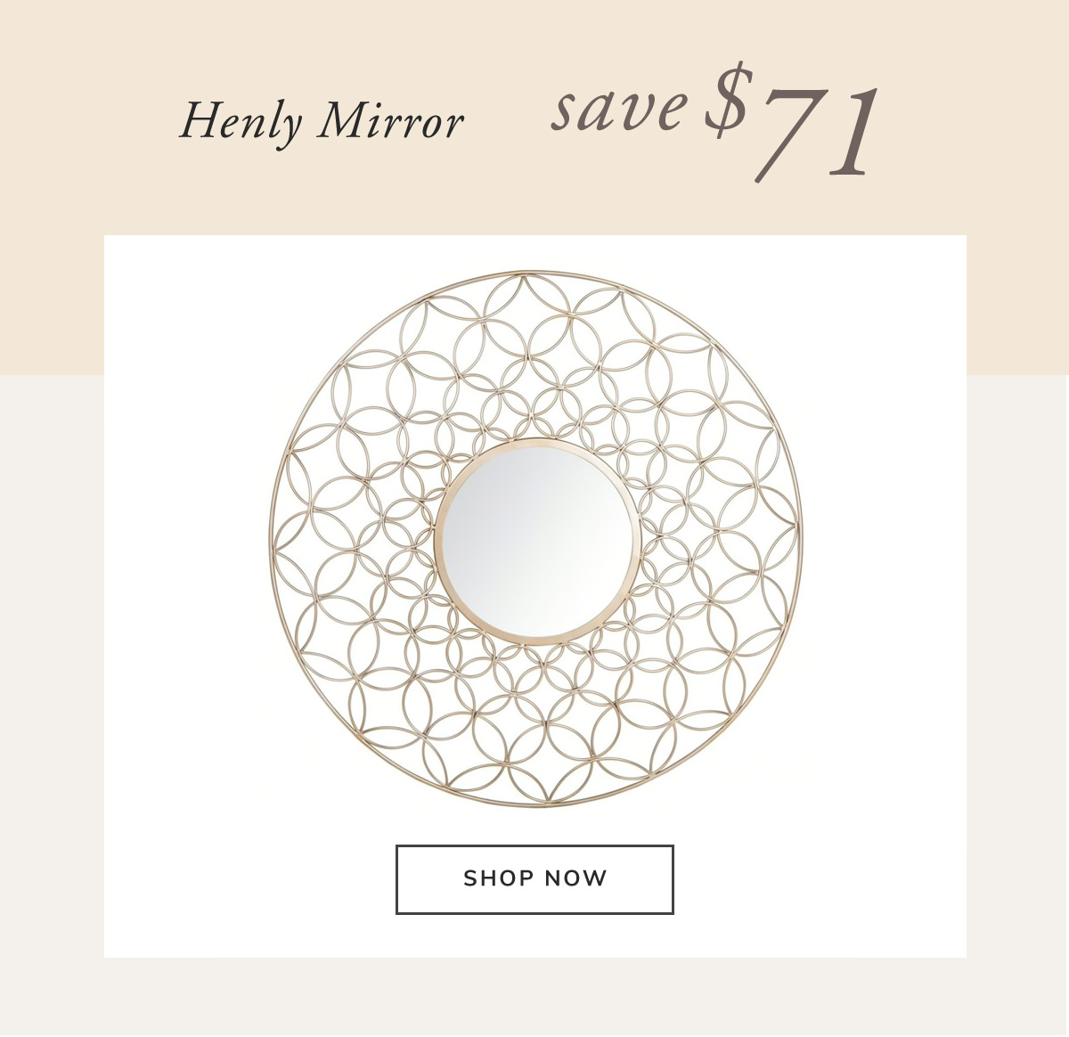 Henly Mirror. Save $71 | SHOP NOW