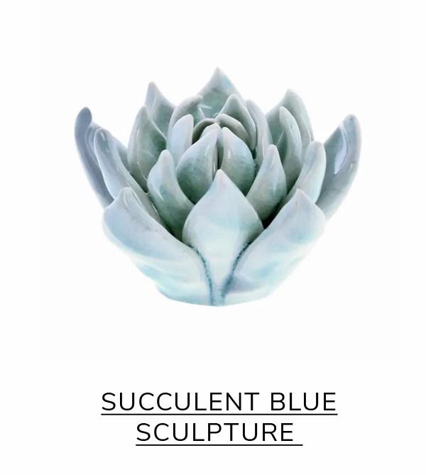 Succulent Blue Sculpture | SHOP NOW