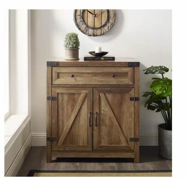 Farmhouse Barn Door Accent Cabinet | SHOP NOW