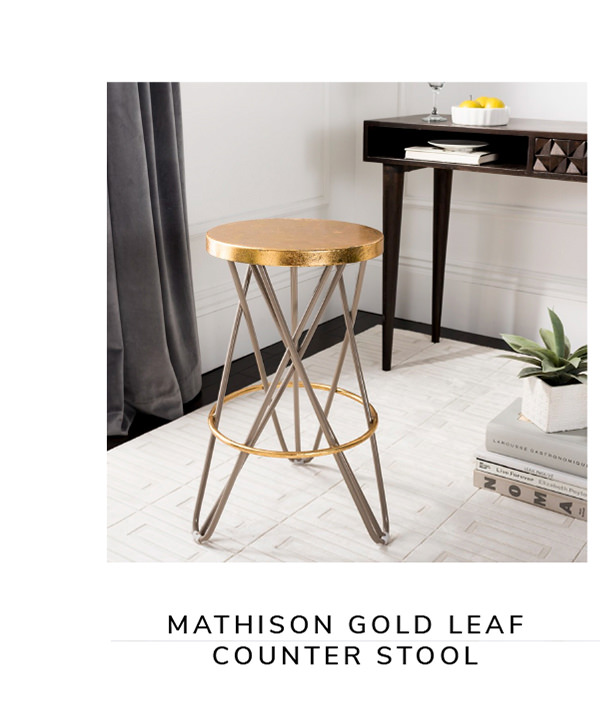 Mathison Gold Leaf Counter Stool   SHOP NOW