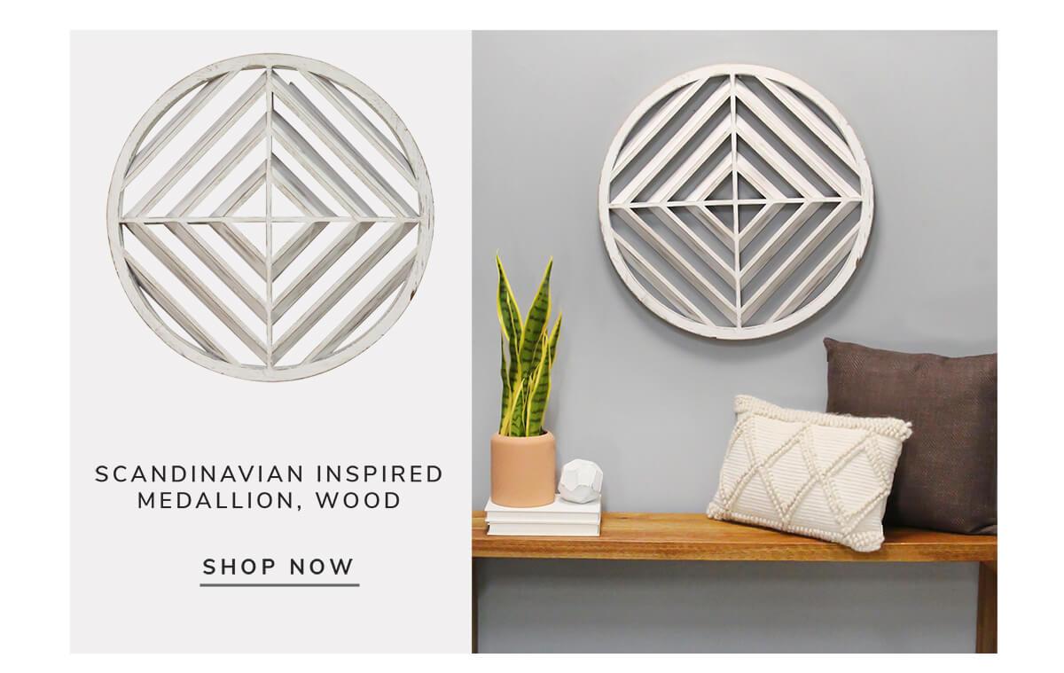 Scandinavian Inspired Medallion, Wood   SHOP NOW