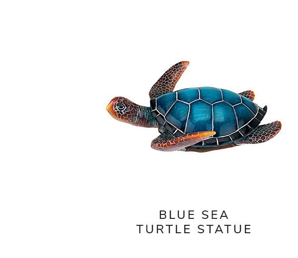 Blue Sea Turtle Statues | SHOP NOW
