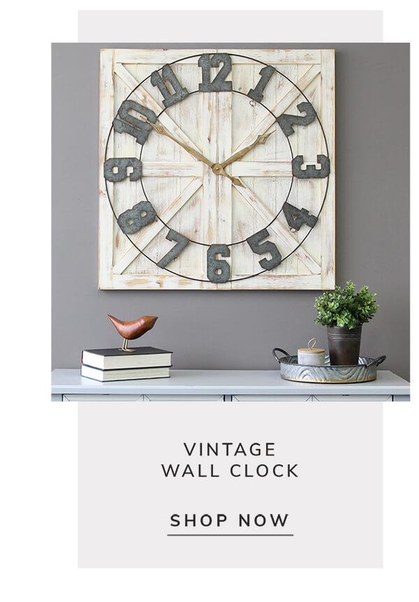 Vintage Wall Clock   SHOP NOW