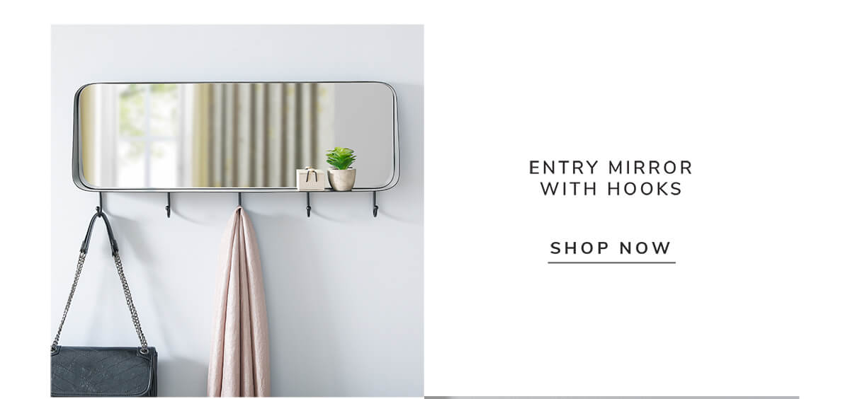 Entry mirror with hooks   SHOP NOW