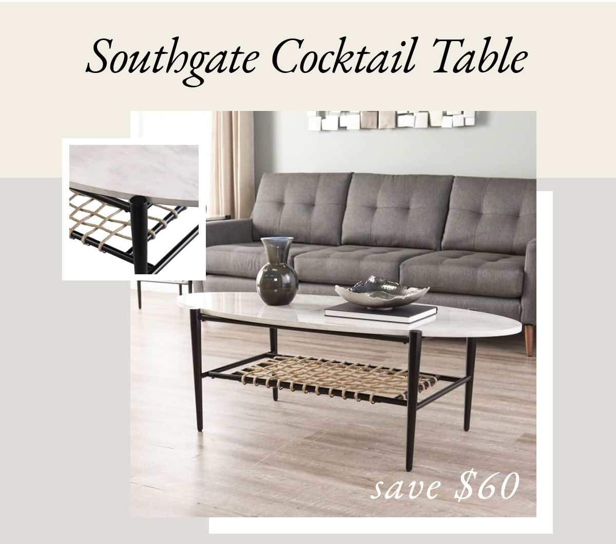 Southgate Cocktail Table | SHOP NOW