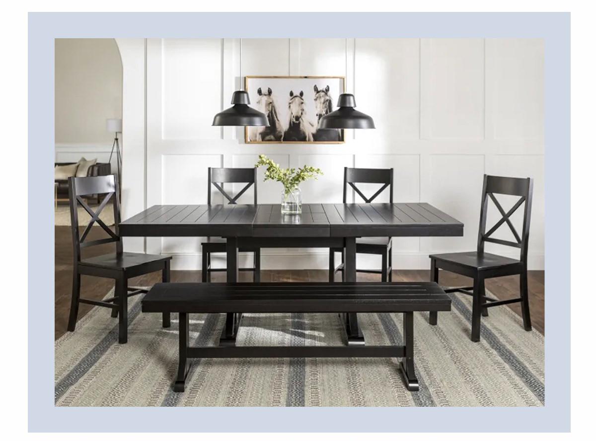 Antique Black 6-Piece Wood Dining Set | SHOP NOW