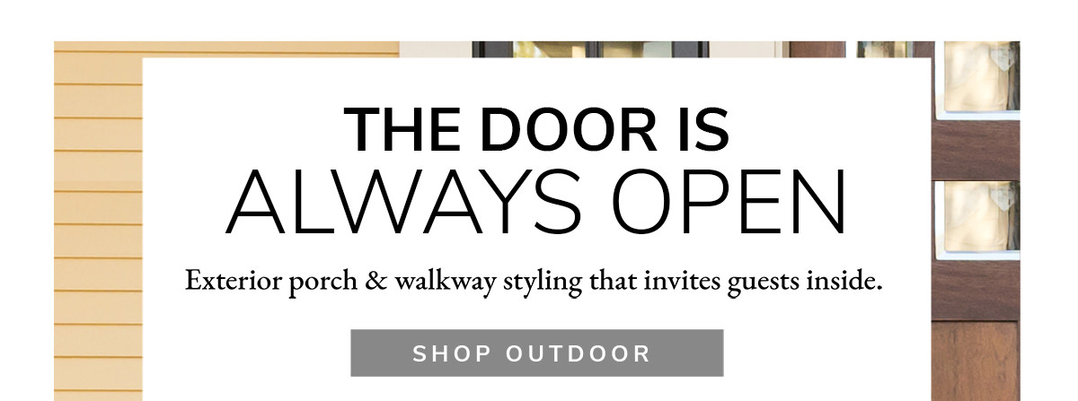 The door is Always open! Exterior porch & walkway styling that invites guests inside. | SHOP NOW