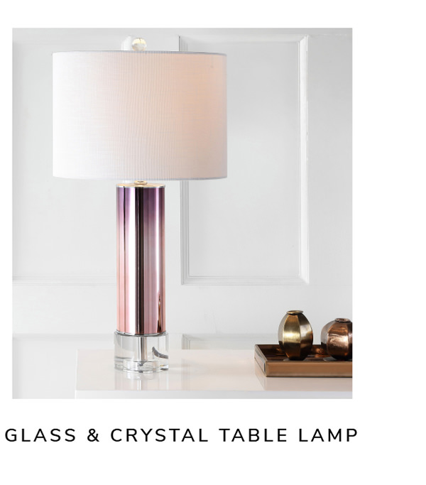 Glass /Crystal Table Lamp, Rose Gold   SHOP NOW