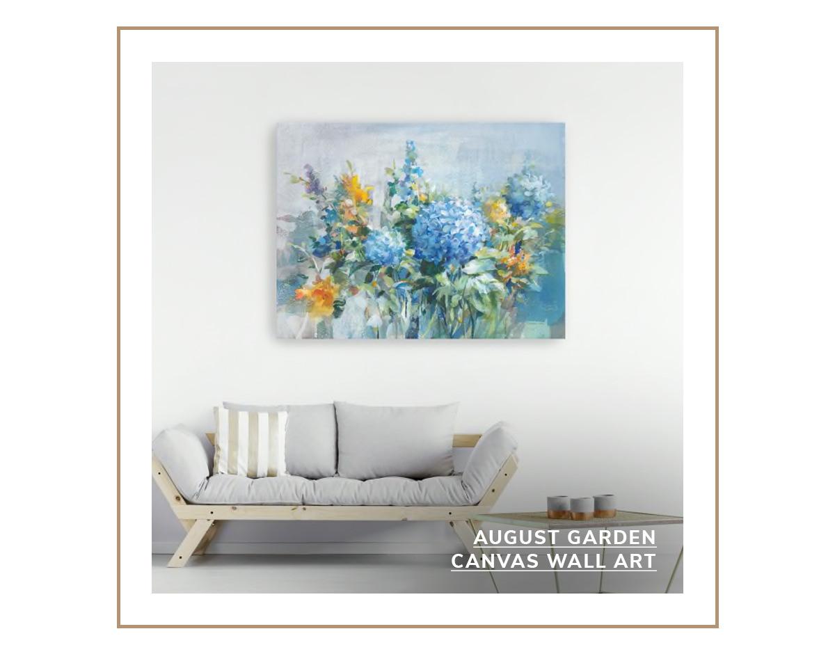 August Garden Canvas Wall Art   SHOP NOW