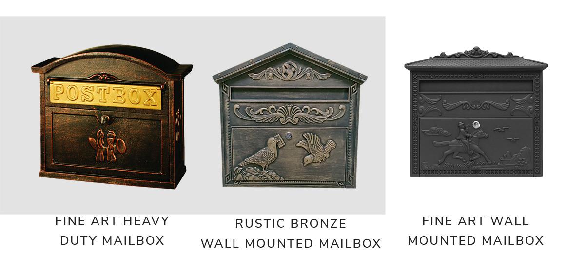 Fine Art Lighting Heavy Duty Cast Aluminum Mailbox,Fine Art Lighting Rustic Red Bronze Wall Mounted Mailbox,Fine Art Lighting Wall Mounted Cast Aluminum Mailbox | SHOP NOW