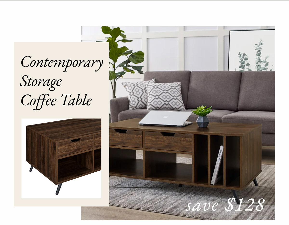 Contemporary Storage Coffee Table | SHOP NOW